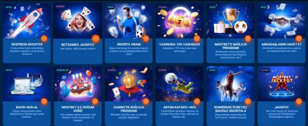 MostBet Live events